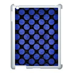 Circles2 Black Marble & Blue Brushed Metal Apple Ipad 3/4 Case (white) by trendistuff