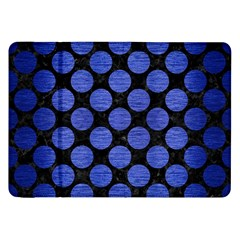 Circles2 Black Marble & Blue Brushed Metal Samsung Galaxy Tab 8 9  P7300 Flip Case by trendistuff