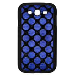 Circles2 Black Marble & Blue Brushed Metal Samsung Galaxy Grand Duos I9082 Case (black) by trendistuff