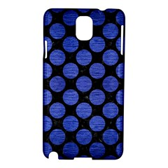 Circles2 Black Marble & Blue Brushed Metal Samsung Galaxy Note 3 N9005 Hardshell Case by trendistuff