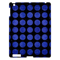 Circles1 Black Marble & Blue Brushed Metal Apple Ipad 3/4 Hardshell Case by trendistuff