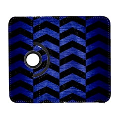 Chevron2 Black Marble & Blue Brushed Metal Samsung Galaxy S  Iii Flip 360 Case by trendistuff
