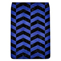 Chevron2 Black Marble & Blue Brushed Metal Removable Flap Cover (l) by trendistuff