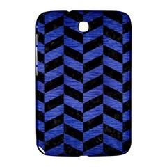 Chevron1 Black Marble & Blue Brushed Metal Samsung Galaxy Note 8 0 N5100 Hardshell Case  by trendistuff