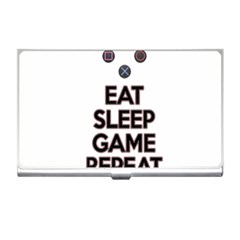 Eat Sleep Game Repeat Business Card Holders by Valentinaart