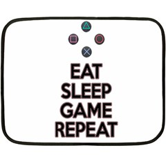 Eat Sleep Game Repeat Double Sided Fleece Blanket (mini)  by Valentinaart