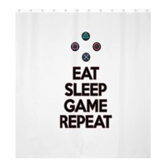 Eat Sleep Game Repeat Shower Curtain 66  X 72  (large)  by Valentinaart
