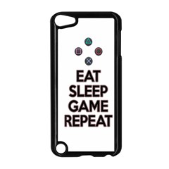 Eat Sleep Game Repeat Apple Ipod Touch 5 Case (black) by Valentinaart