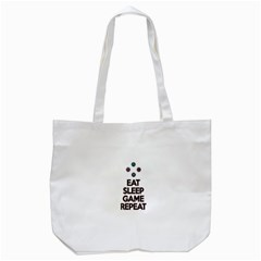 Eat Sleep Game Repeat Tote Bag (white) by Valentinaart