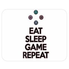 Eat Sleep Game Repeat Double Sided Flano Blanket (medium)  by Valentinaart