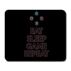 Eat Sleep Game Repeat Large Mousepads by Valentinaart