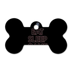 Eat Sleep Game Repeat Dog Tag Bone (two Sides) by Valentinaart