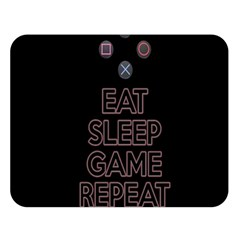 Eat Sleep Game Repeat Double Sided Flano Blanket (large)  by Valentinaart