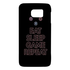 Eat Sleep Game Repeat Galaxy S6 by Valentinaart