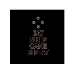 Eat Sleep Game Repeat Small Satin Scarf (square) by Valentinaart