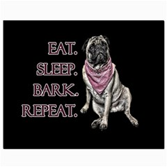 Eat, Sleep, Bark, Repeat Pug Canvas 8  X 10  by Valentinaart
