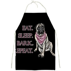 Eat, Sleep, Bark, Repeat Pug Full Print Aprons by Valentinaart