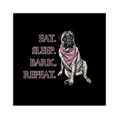 Eat, Sleep, Bark, Repeat Pug Acrylic Tangram Puzzle (6  X 6 ) by Valentinaart