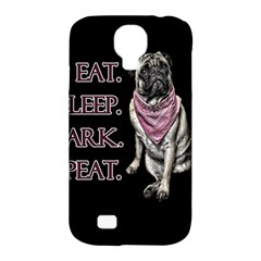 Eat, Sleep, Bark, Repeat Pug Samsung Galaxy S4 Classic Hardshell Case (pc+silicone) by Valentinaart