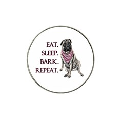 Eat, Sleep, Bark, Repeat Pug Hat Clip Ball Marker by Valentinaart