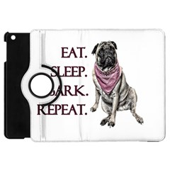 Eat, Sleep, Bark, Repeat Pug Apple Ipad Mini Flip 360 Case by Valentinaart
