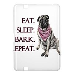 Eat, Sleep, Bark, Repeat Pug Kindle Fire Hd 8 9  by Valentinaart