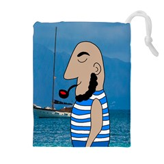 Sailor Drawstring Pouches (extra Large) by Valentinaart