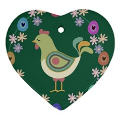 Easter Heart Ornament (two Sides) by Valentinaart