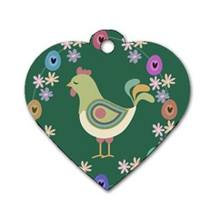 Easter Dog Tag Heart (one Side) by Valentinaart