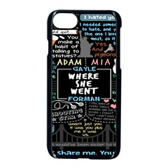Book Quote Collage Apple iPhone 7 Seamless Case (Black) by Gogogo