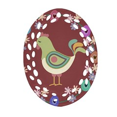 Easter Ornament (oval Filigree) by Valentinaart