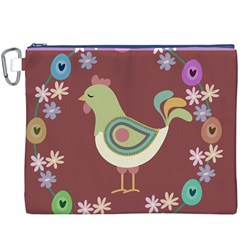 Easter Canvas Cosmetic Bag (xxxl) by Valentinaart