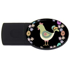Easter Usb Flash Drive Oval (4 Gb) by Valentinaart