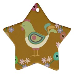 Easter Star Ornament (two Sides) by Valentinaart