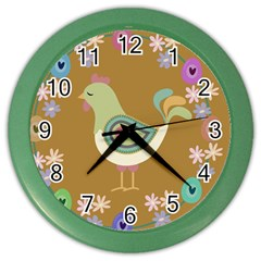 Easter Color Wall Clocks by Valentinaart