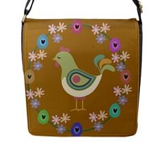 Easter Flap Messenger Bag (l)  by Valentinaart