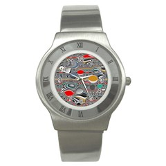 Changing Forms Abstract Stainless Steel Watch by theunrulyartist