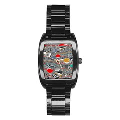 Changing Forms Abstract Stainless Steel Barrel Watch by digitaldivadesigns