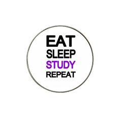 Eat Sleep Study Repeat Hat Clip Ball Marker (4 Pack) by Valentinaart