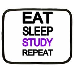 Eat Sleep Study Repeat Netbook Case (xxl)  by Valentinaart
