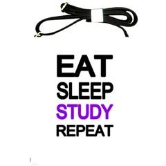 Eat Sleep Study Repeat Shoulder Sling Bags by Valentinaart