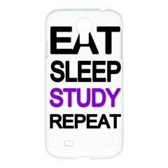 Eat Sleep Study Repeat Samsung Galaxy S4 I9500/i9505 Hardshell Case by Valentinaart