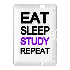 Eat Sleep Study Repeat Kindle Fire Hdx 8 9  Hardshell Case by Valentinaart
