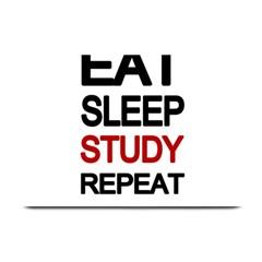 Eat Sleep Study Repeat Plate Mats by Valentinaart