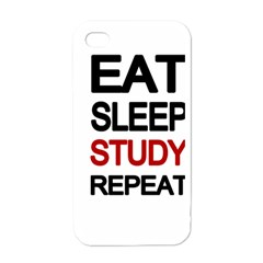 Eat Sleep Study Repeat Apple Iphone 4 Case (white) by Valentinaart
