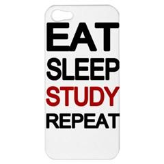 Eat Sleep Study Repeat Apple Iphone 5 Hardshell Case by Valentinaart