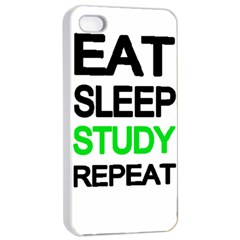 Eat Sleep Study Repeat Apple Iphone 4/4s Seamless Case (white) by Valentinaart