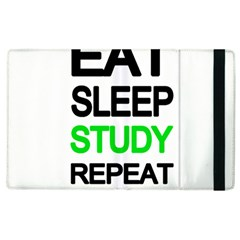 Eat Sleep Study Repeat Apple Ipad 3/4 Flip Case by Valentinaart