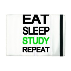 Eat Sleep Study Repeat Apple Ipad Mini Flip Case by Valentinaart