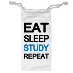 Eat Sleep Study Repeat Jewelry Bag by Valentinaart